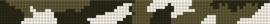 Patroon legerprint + benodigde kralen en draad