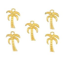 Bedel palmboom gold 18 x 13 mm