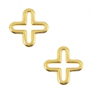 Bedels DQ metaal kruis Goud (nikkelvrij)