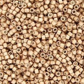 Miyuki Delica 11/0 DB-1153 Semi Matte Galvanized Honey Gold ca. 2½ gram