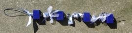 Doe het zelf zeepkettingpakket van waxkoord Delfts blauw