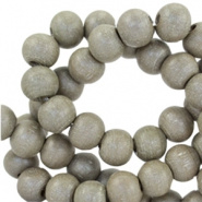 Houten kraal 6 mm Grey