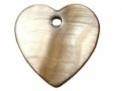 Hartje van schelp bruin 15 x 15 mm
