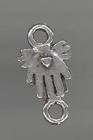 Tussenzetsel antiek zilver
