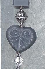 Doe het zelf zeepketting pakket grijs - zilver met ornament zeep
