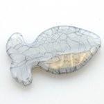 Kunststof kraal vis grijs 47 x 30 mm