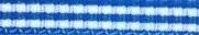 Lint ruitje blauw / wit 5 mm