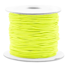 Gekleurd elastisch draad 0,8 mm Geel