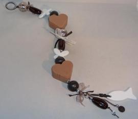 Luxe zeepketting bruin /  wit