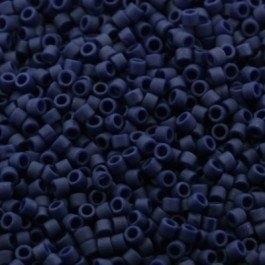 Miyuki Delica 11/0 DB-0377 Met. Dark Grey-Blue Matted