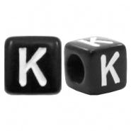 Letterkraal K (acryl) 6 x 6 mm (rijggat 3,6 mm), per stuk