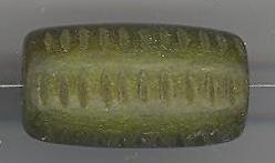 Houten kraal olijfgroen 24mm