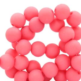 Acryl kralen 6 mm Deep pink 50 stuks