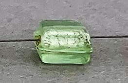 Folie kraal 10 mm pistache green