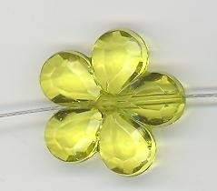 Acryl bloemetje 21 mm lime groen