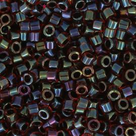 Miyuki Delica 11/0 DB-0297 Lined Garnet AB ca. 2½ gram