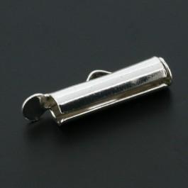 2x eindkap voor weefarmbanden 15 mm zilverkleur (designerskwaliteit)