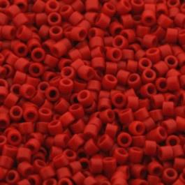 Miyuki Delica 11/0 DB-0795 Dyed Opaque Vermillion Matted ca. 2½ gram