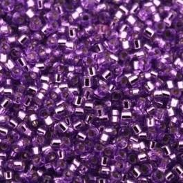 Miyuki Delica 11/0 DB-1343 Silverlined Lavender Dyed ca. 2½ gram