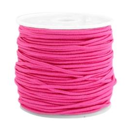 Gekleurd elastisch draad 0,8 mm Light Fluor Rose