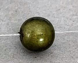 Kunststof 3D kraal olijfgroen 8 mm