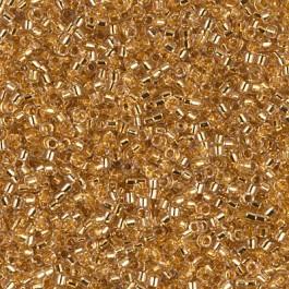 Miyuki Delica 11/0 DB-0033 24KT Gold Lined Crystal 2½ gram
