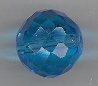 Facetkraal blauw 15 mm