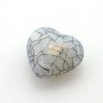 Kunststof kraal hart grijs 25x 27 mm