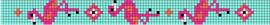 Flamingo patroon + benodigde kralen en draad