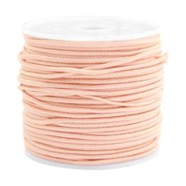 Gekleurd elastisch draad 1,5mm Pastel Peach