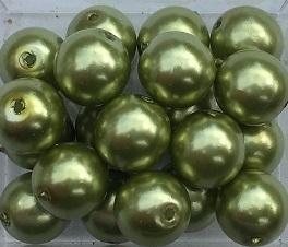 Glasparel zacht groen 8 mm, per stuk