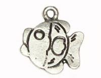 DQ Visje antiek zilver 20 mm