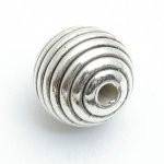 Kunststof kraal zilverkleurig 18 mm