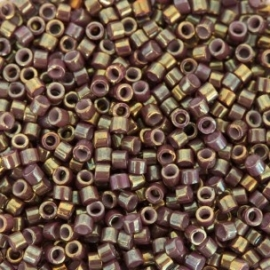 Miyuki Delica 11/0 DB-1011 Metallic Dusty Mauve Gold Iris ca. 2½ gram