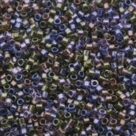 Miyuki Delica 11/0 DB-0986 lined Purple-Bronze Mix
