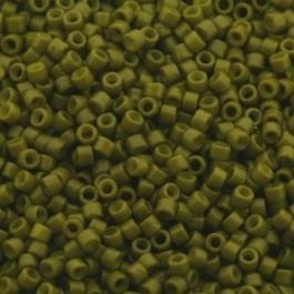 Miyuki Delica 11/0 DB-2141  Duracoat Opq. Spanish Olive