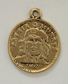 Bedel DQ munt Goud 25 mm (nikkelvrij)