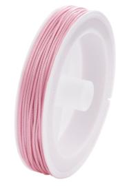 Waxkoord Licht roze 1,0 mm