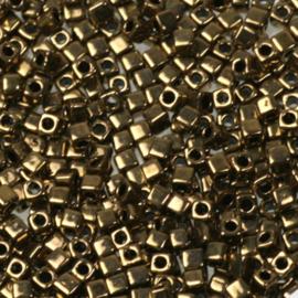 Miyuki cubes 1.8mm - metallic dark bronze 457