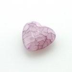 Kunststof facet kraal hart paars 25 x 23 mm