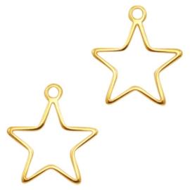 Bedels DQ metaal star goud (nikkelvrij)