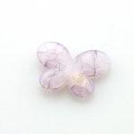 Kunststof kraal vlinder paars  29 x 21 mm