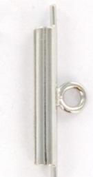 2x Miyuki Slide End tubes zilverkleur 15 mm (3 mm dik)