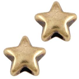 DQ Metaal kraal ster 6 mm Antiek brons (nikkelvrij)