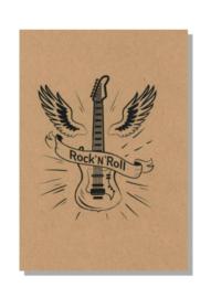 kaart  + envelop + postzegel 'ROCK 'N ROLL'
