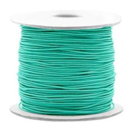 Gekleurd elastisch draad 0,8 mm Turqoise Green