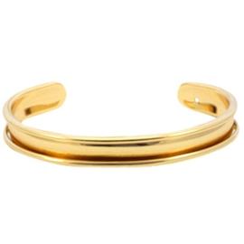 DQ Metaal basis armband 5mm goudkleur (nikkelvrij)