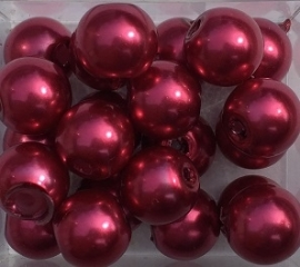 Glasparel fuchsia 8 mm per stuk