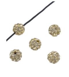 Strasskralen 8 mm zachtgeel
