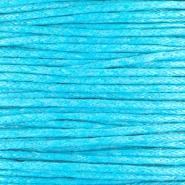 Waxkoord 1 mm Capri Blauw